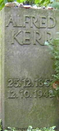Grabmal Alfred Kerr
